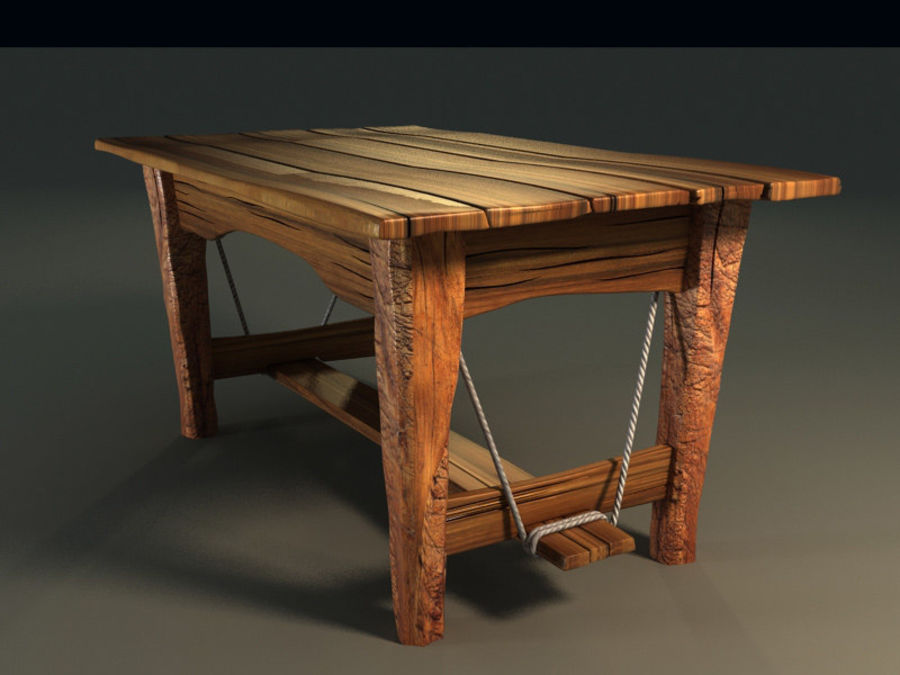 collection of ancient furniture royalty-free 3d model - Preview no. 6