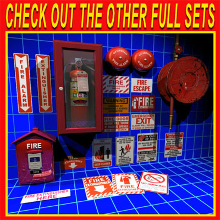 Fire Hose and Alarm Bells 01 royalty-free 3d model - Preview no. 7