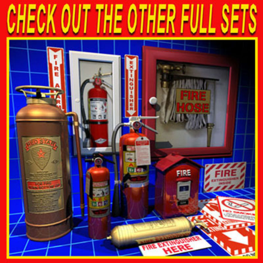 Fire Hose and Alarm Bells 01 royalty-free 3d model - Preview no. 8