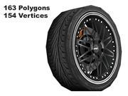 roue sport lowpoly 1 3d model