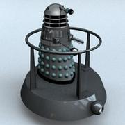Classic Dalek Mark 3 with Hoverbout 3d model
