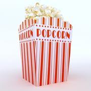 high def classic popcon box 3d model