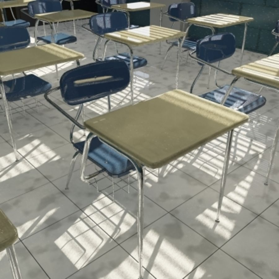 Classroom 2 royalty-free 3d model - Preview no. 2