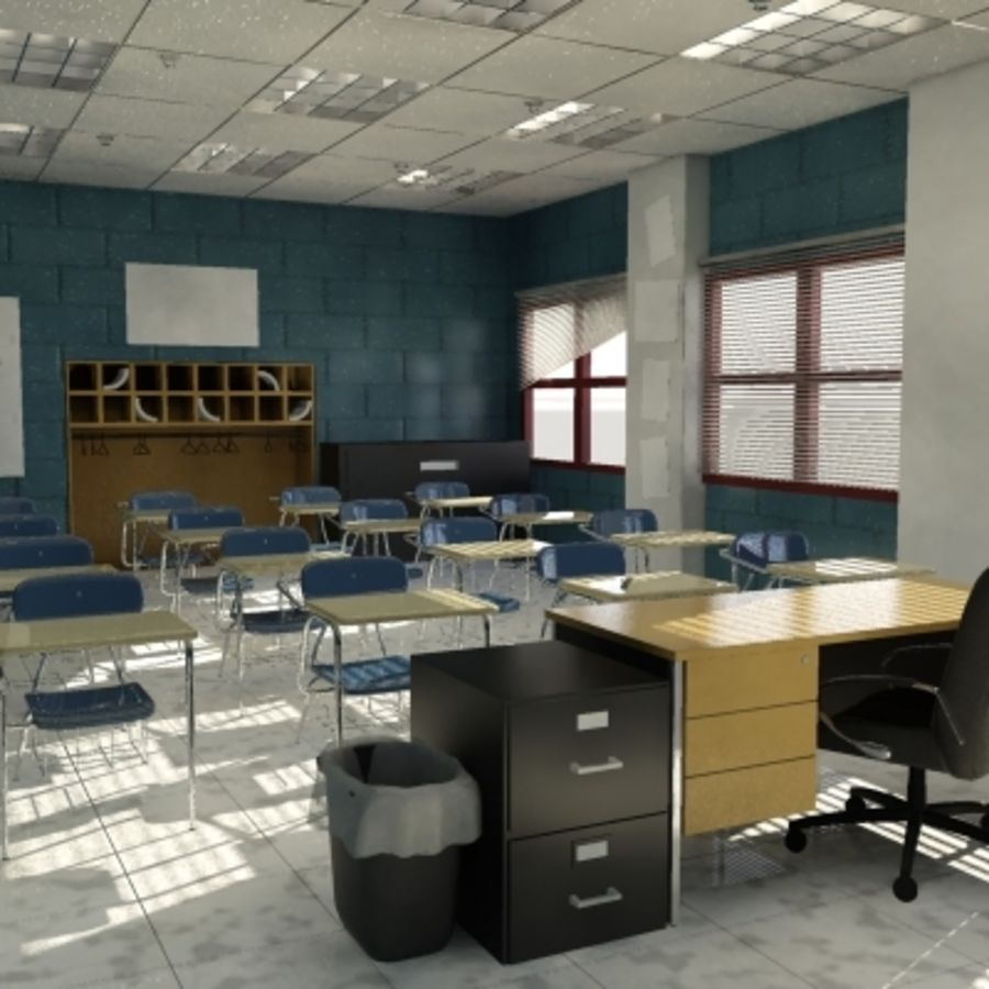 Classroom 2 royalty-free 3d model - Preview no. 1