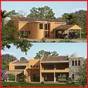 Latin Hacienda Modern 3d model