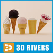 Ice cream set 01 by 3DRivers 3d model