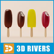 Ice cream set 02 by 3DRivers 3d model