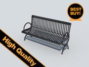 street metal bench 3d model