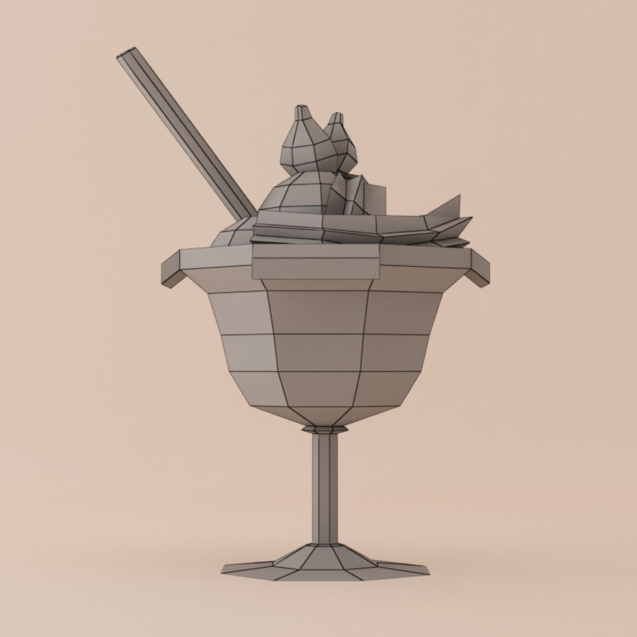 Ice cream 10 by 3DRivers royalty-free 3d model - Preview no. 2