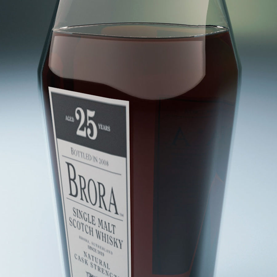 Bottle of whisky royalty-free 3d model - Preview no. 4