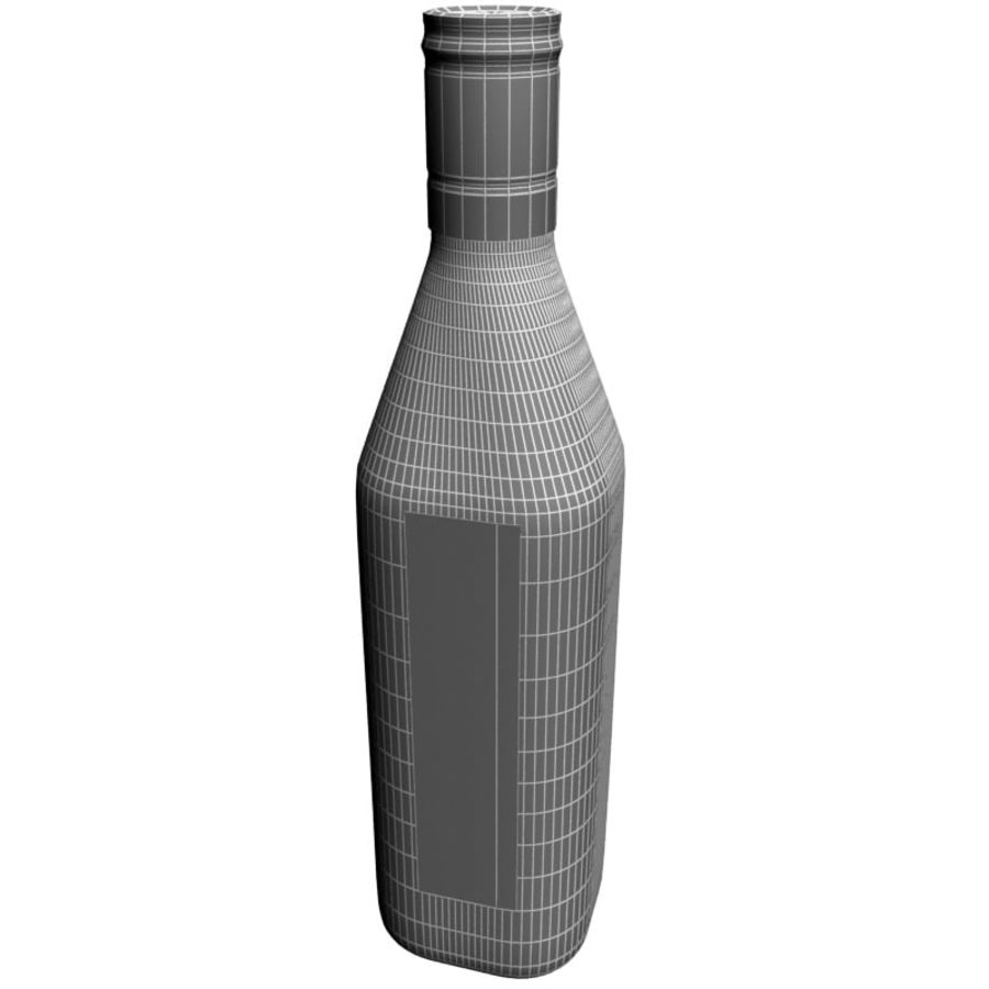 Bottle of whisky royalty-free 3d model - Preview no. 5