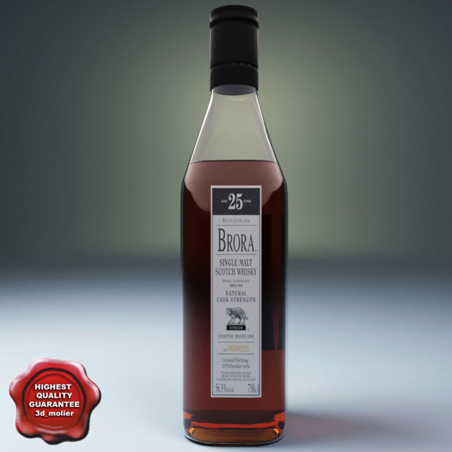 Bottle of whisky royalty-free 3d model - Preview no. 1