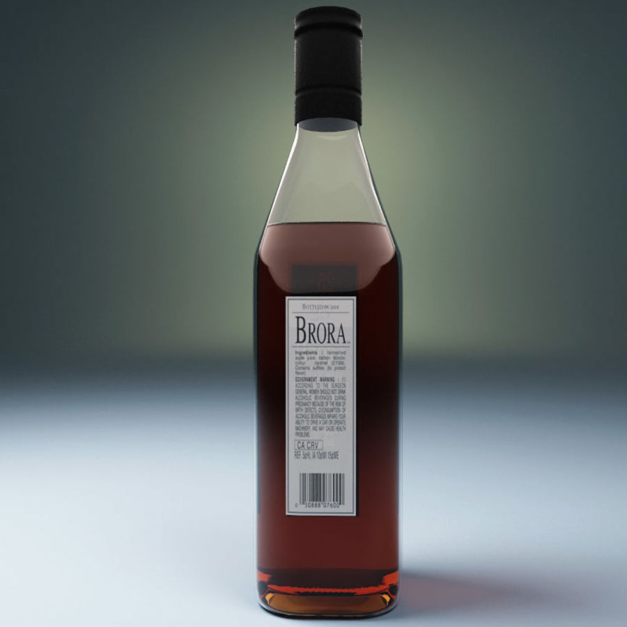 Bottle of whisky royalty-free 3d model - Preview no. 2
