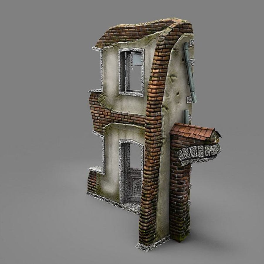 Ruin B royalty-free 3d model - Preview no. 5
