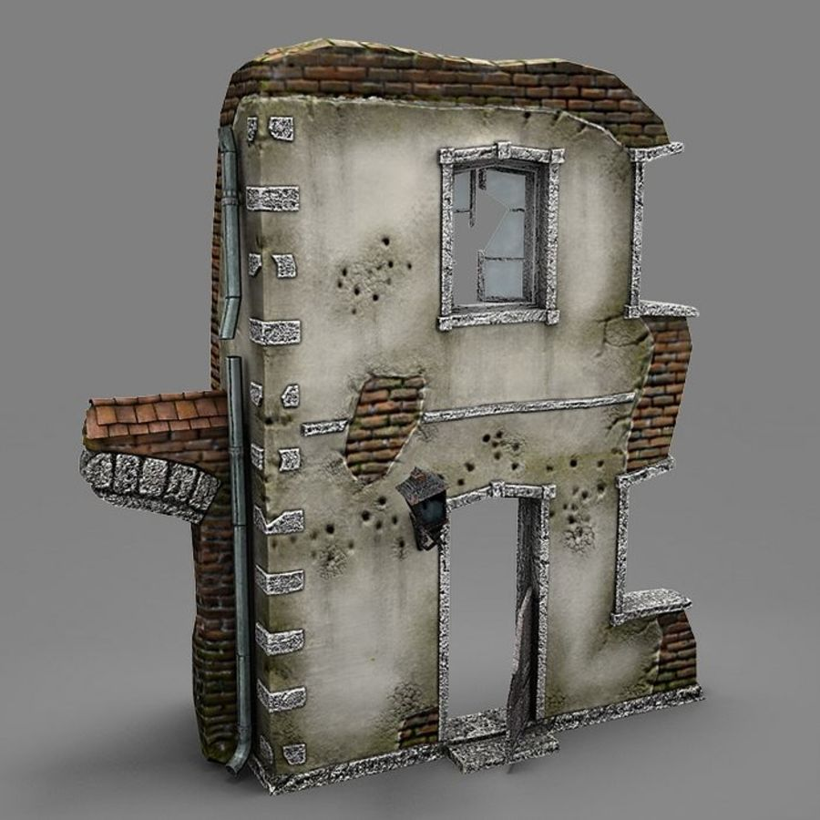 Ruin B royalty-free 3d model - Preview no. 2