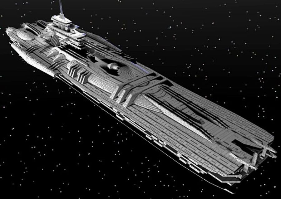 Frigate Class Ship royalty-free 3d model - Preview no. 3
