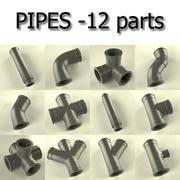 pipes(12) 3d model