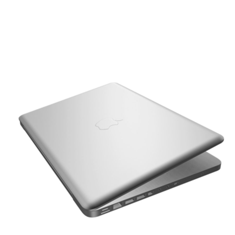 macbook pro notebook 13 inch royalty-free 3d model - Preview no. 8