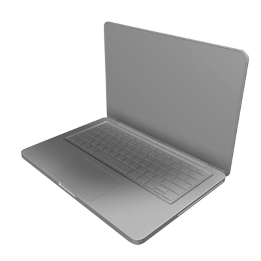 macbook pro notebook 13 inch royalty-free 3d model - Preview no. 7