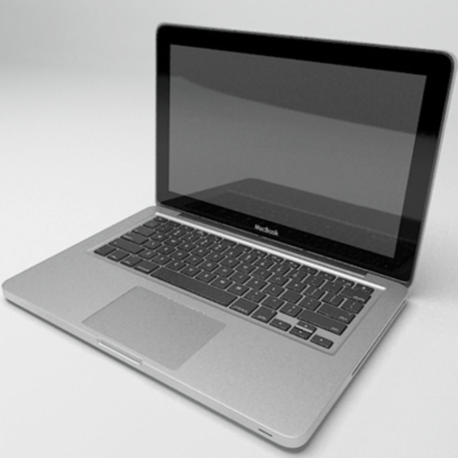 macbook pro notebook 13 inch royalty-free 3d model - Preview no. 3
