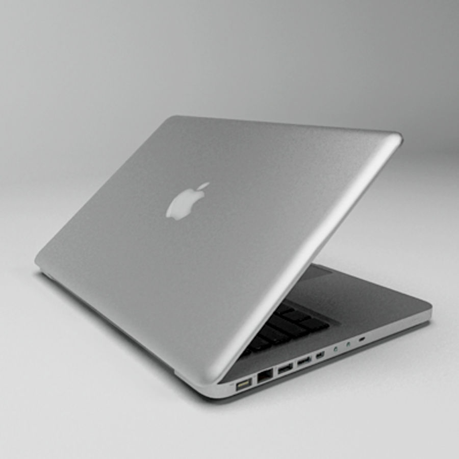 macbook pro notebook 13 inch royalty-free 3d model - Preview no. 2