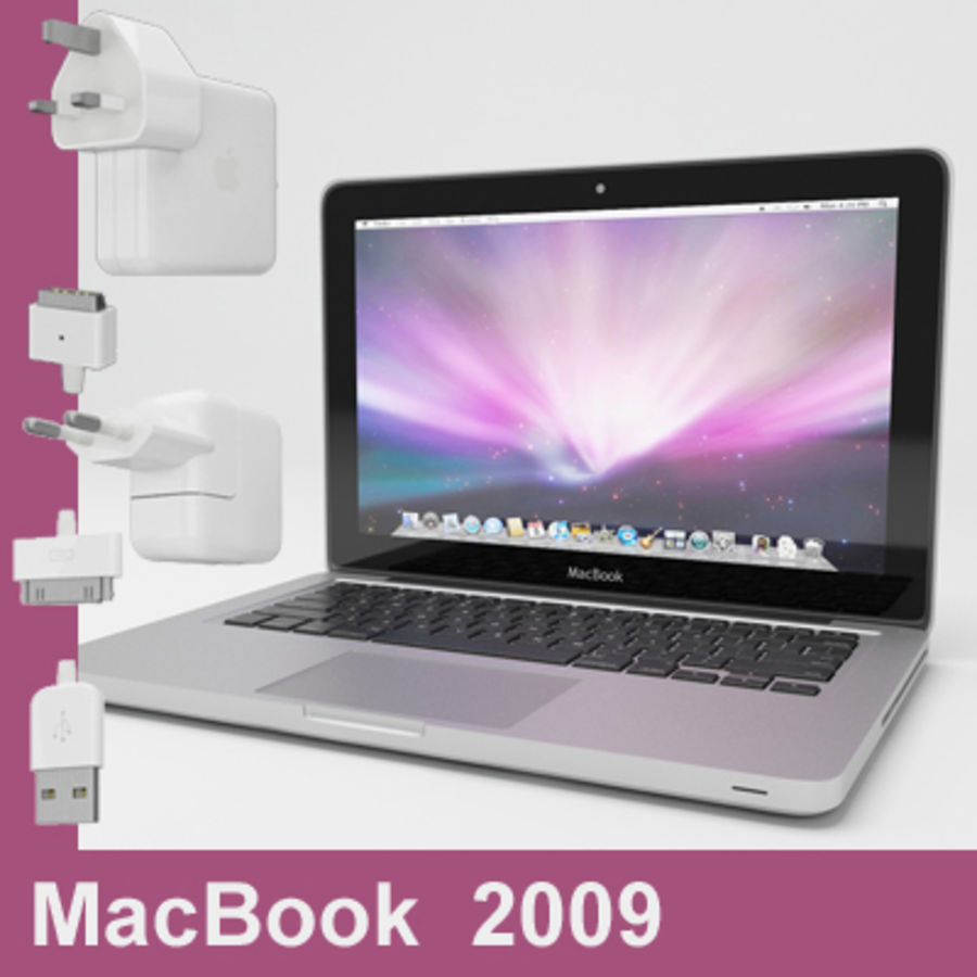 macbook pro notebook 13 inch royalty-free 3d model - Preview no. 24
