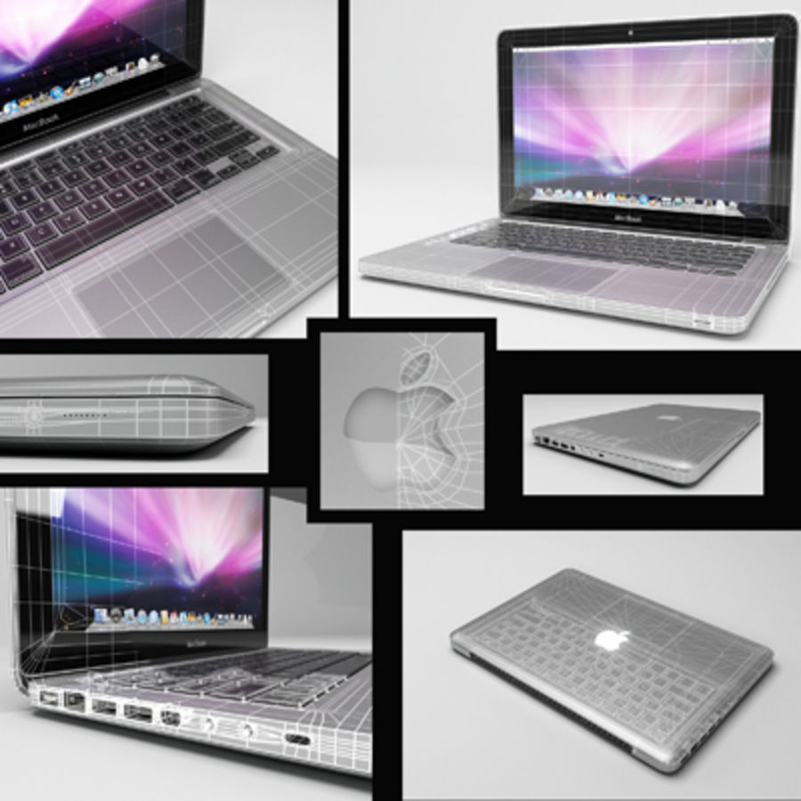 macbook pro notebook 13 inch royalty-free 3d model - Preview no. 16