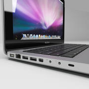 macbook pro notebook 13 inch 3d model