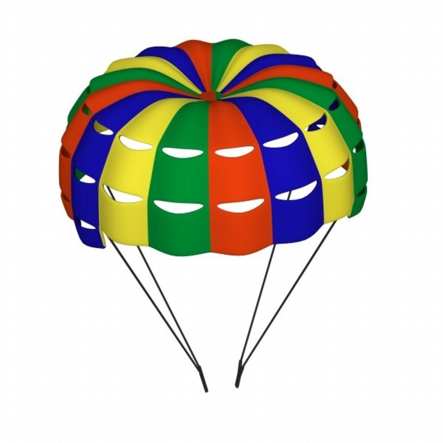 parachute1 royalty-free 3d model - Preview no. 1