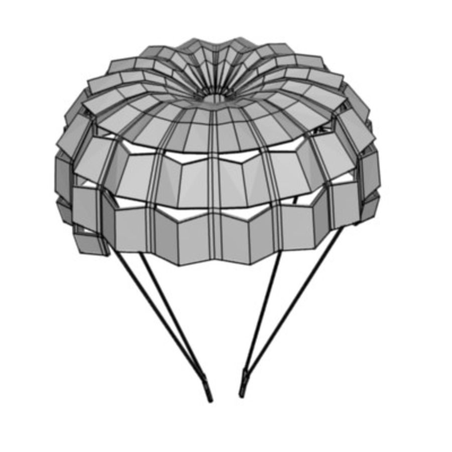 parachute1 royalty-free 3d model - Preview no. 3