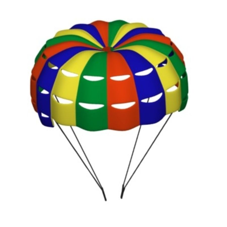 parachute1 royalty-free 3d model - Preview no. 2