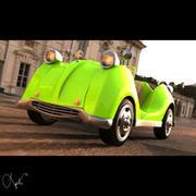 Toon Town Car 3d model
