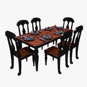 Formal Dining Table 3d model