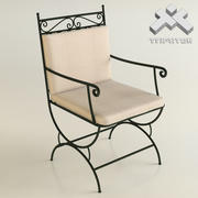 Wrought Iron Chair 3d model