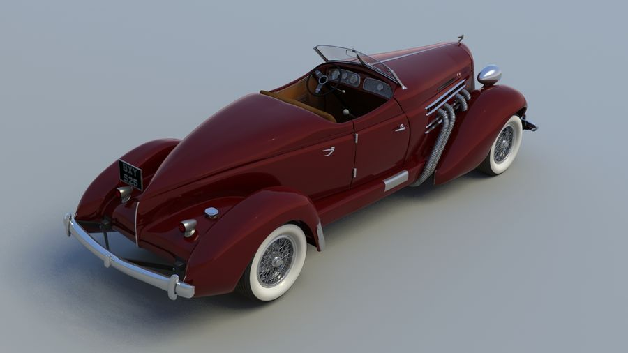 AUBURN RED royalty-free 3d model - Preview no. 8
