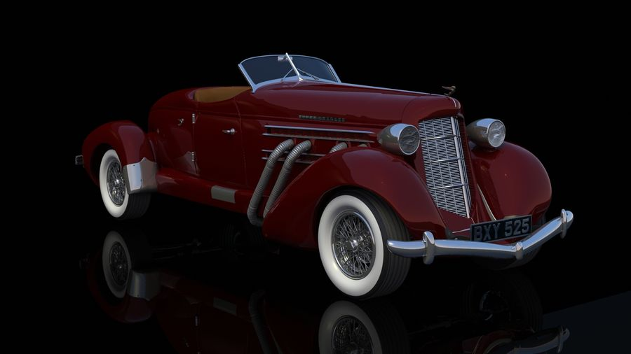 AUBURN RED royalty-free 3d model - Preview no. 4