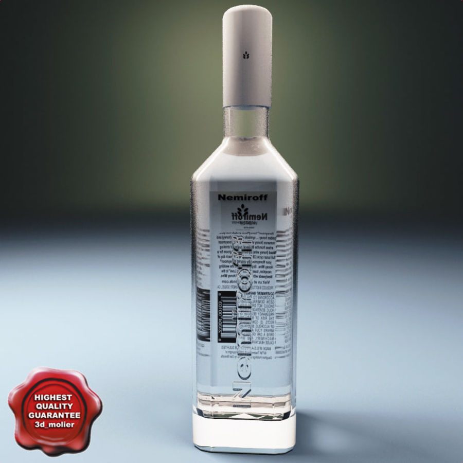 Vodka bottle Nemiroff royalty-free 3d model - Preview no. 1