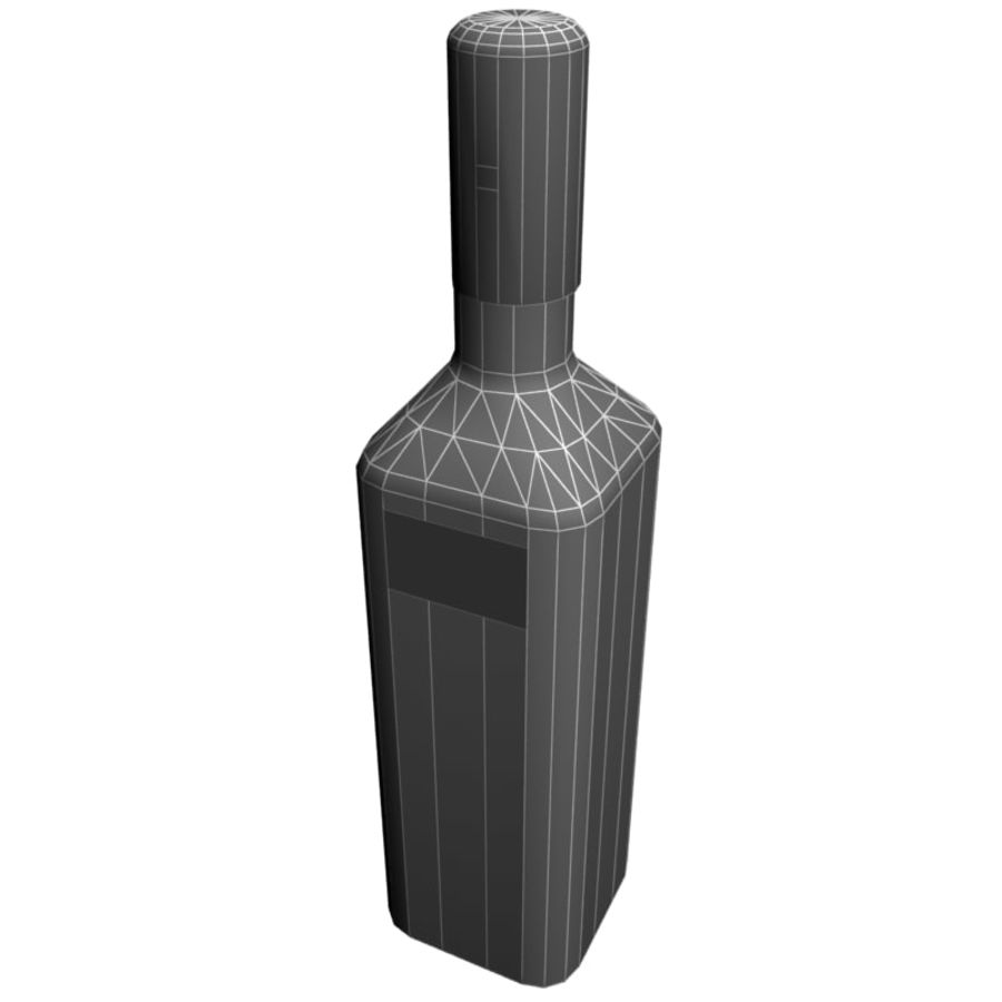 Vodka bottle Nemiroff royalty-free 3d model - Preview no. 6
