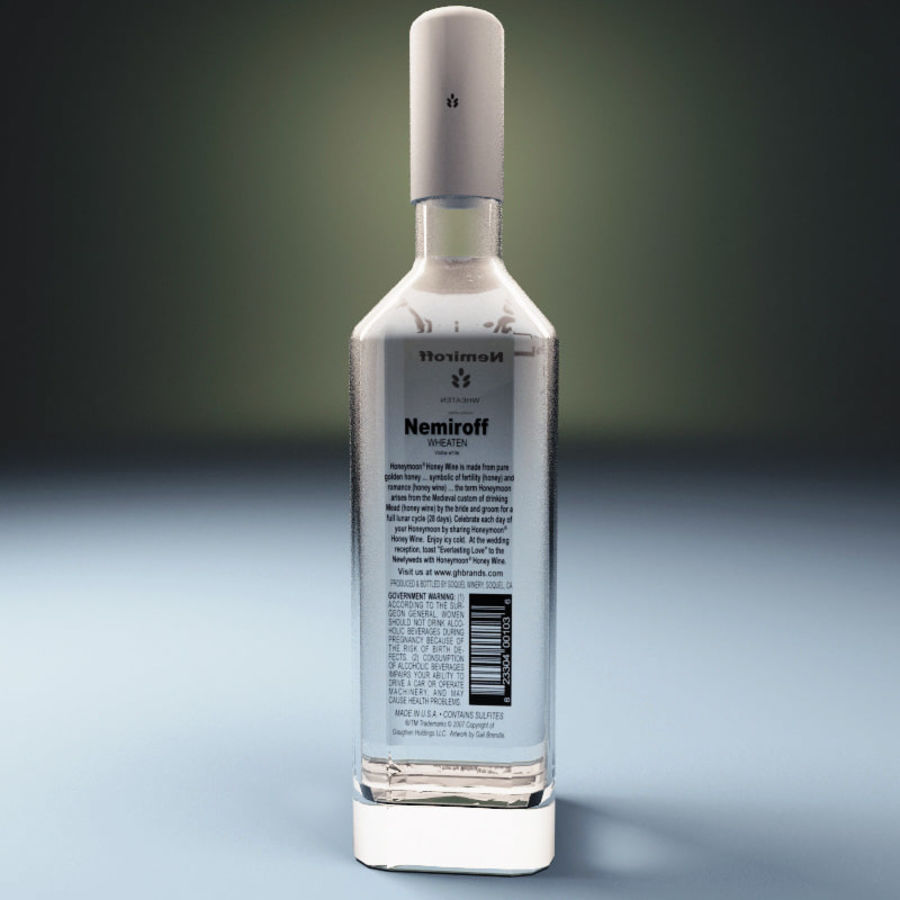 Vodka bottle Nemiroff royalty-free 3d model - Preview no. 2