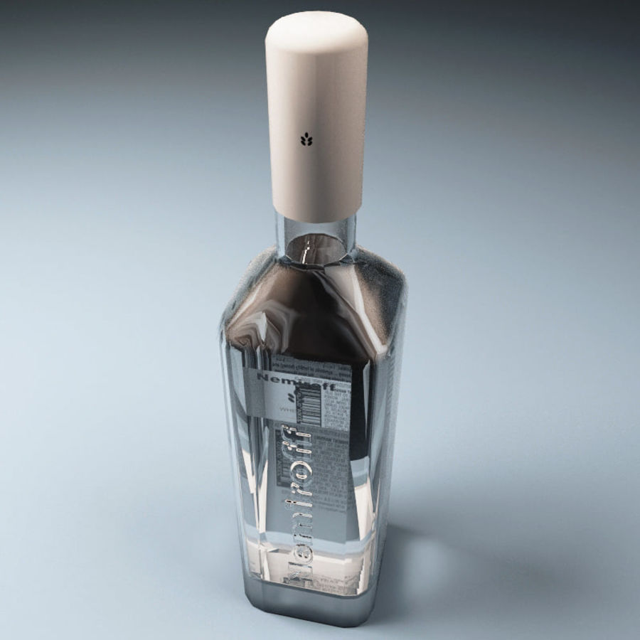 Vodka bottle Nemiroff royalty-free 3d model - Preview no. 3