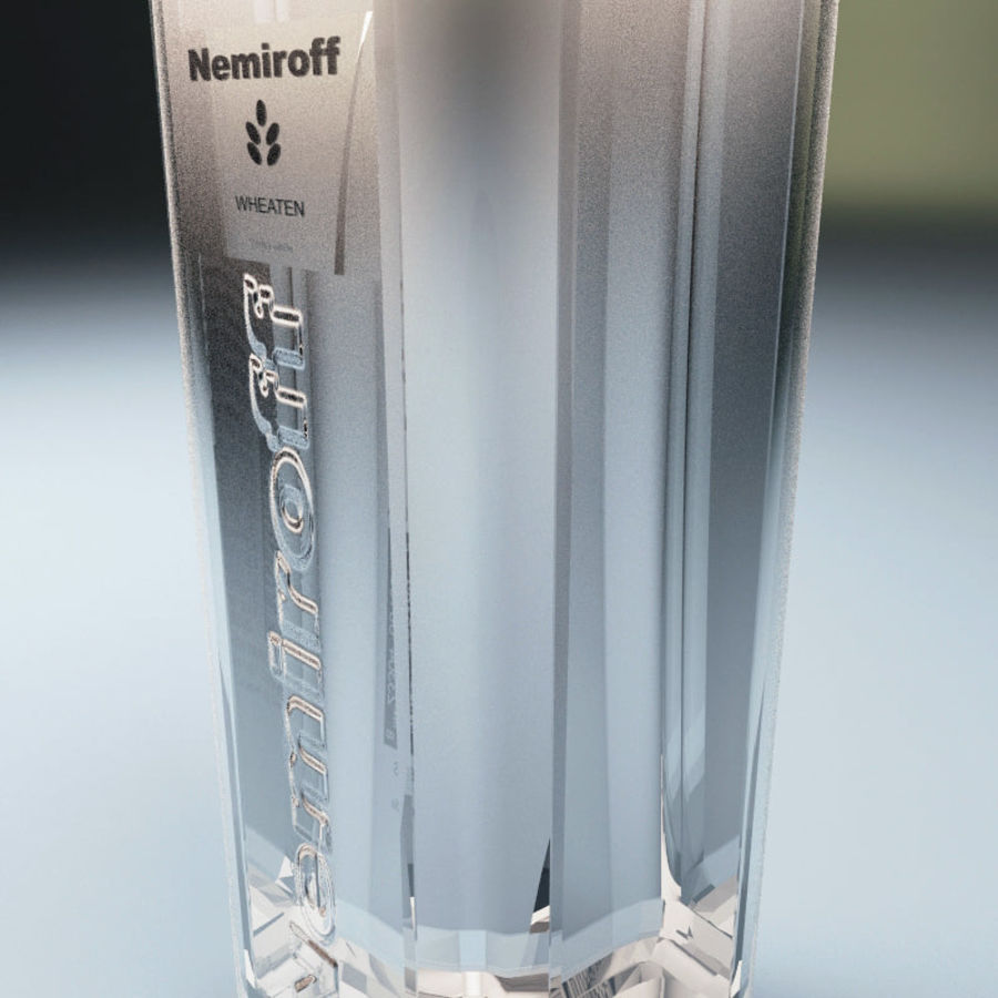 Vodka bottle Nemiroff royalty-free 3d model - Preview no. 5
