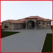 big Latin Hacienda Modern 4 3d model
