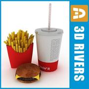 Fast food set by 3DRivers 3d model