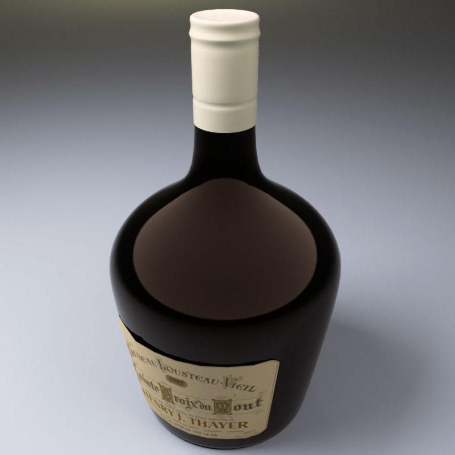 Бутылка вина royalty-free 3d model - Preview no. 3
