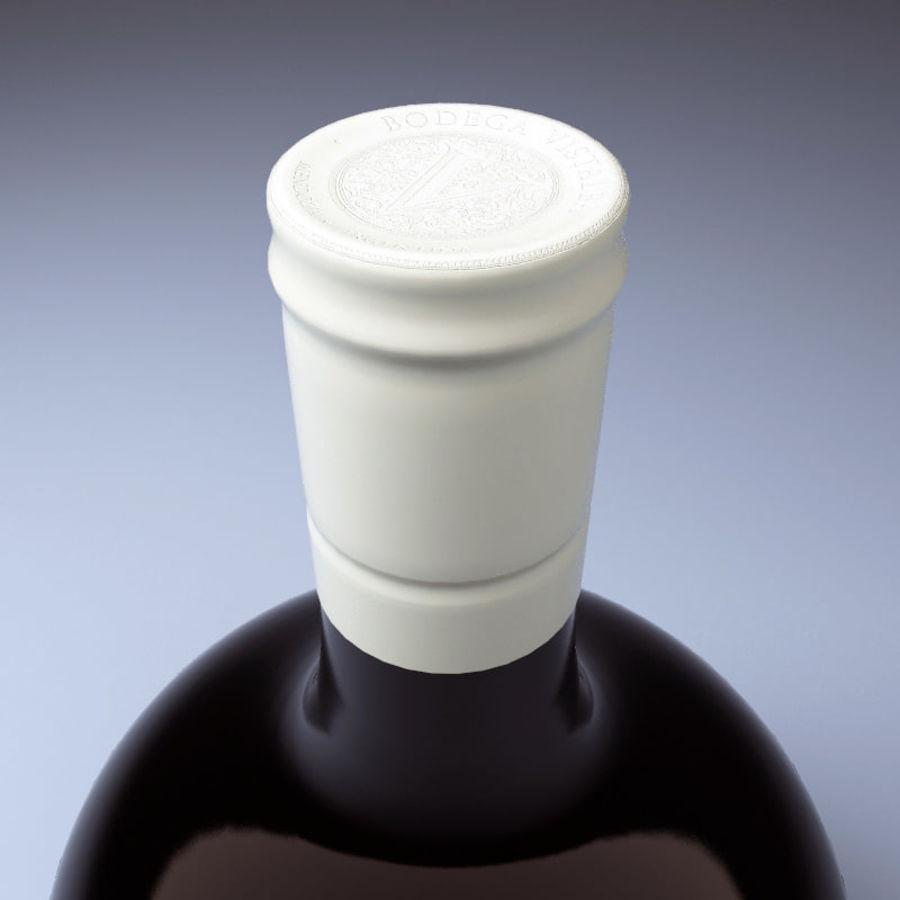 Бутылка вина royalty-free 3d model - Preview no. 4