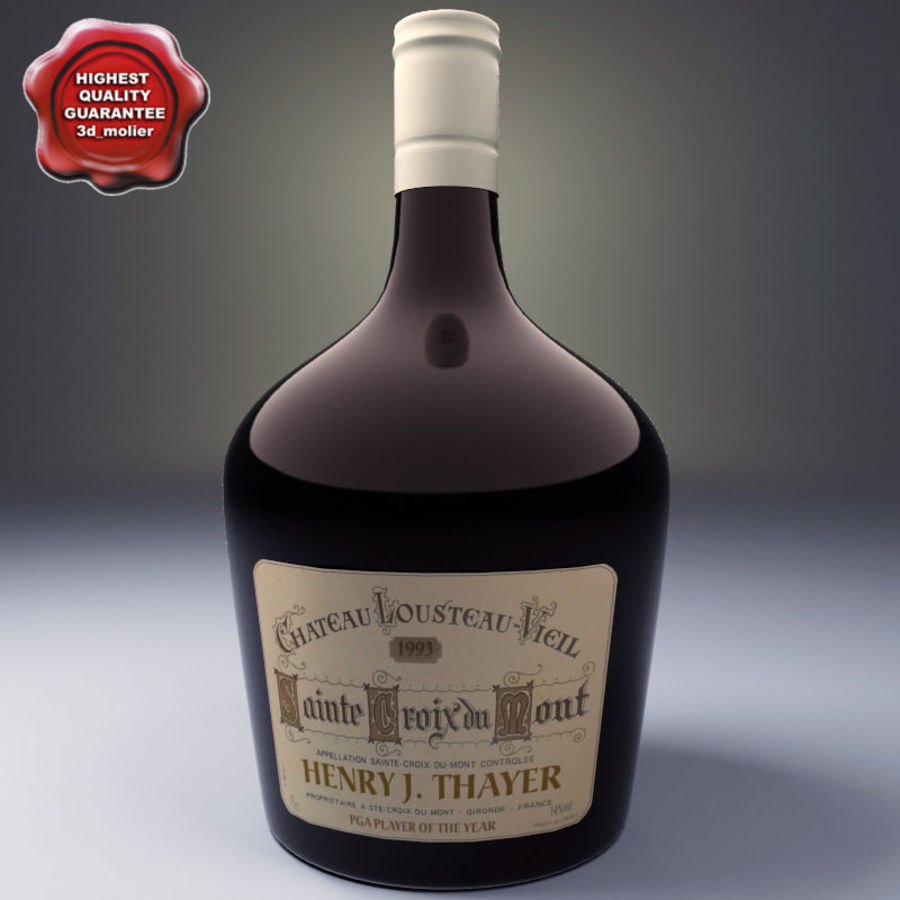 Бутылка вина royalty-free 3d model - Preview no. 1