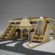 2 level Gated condo Entrance 3d model