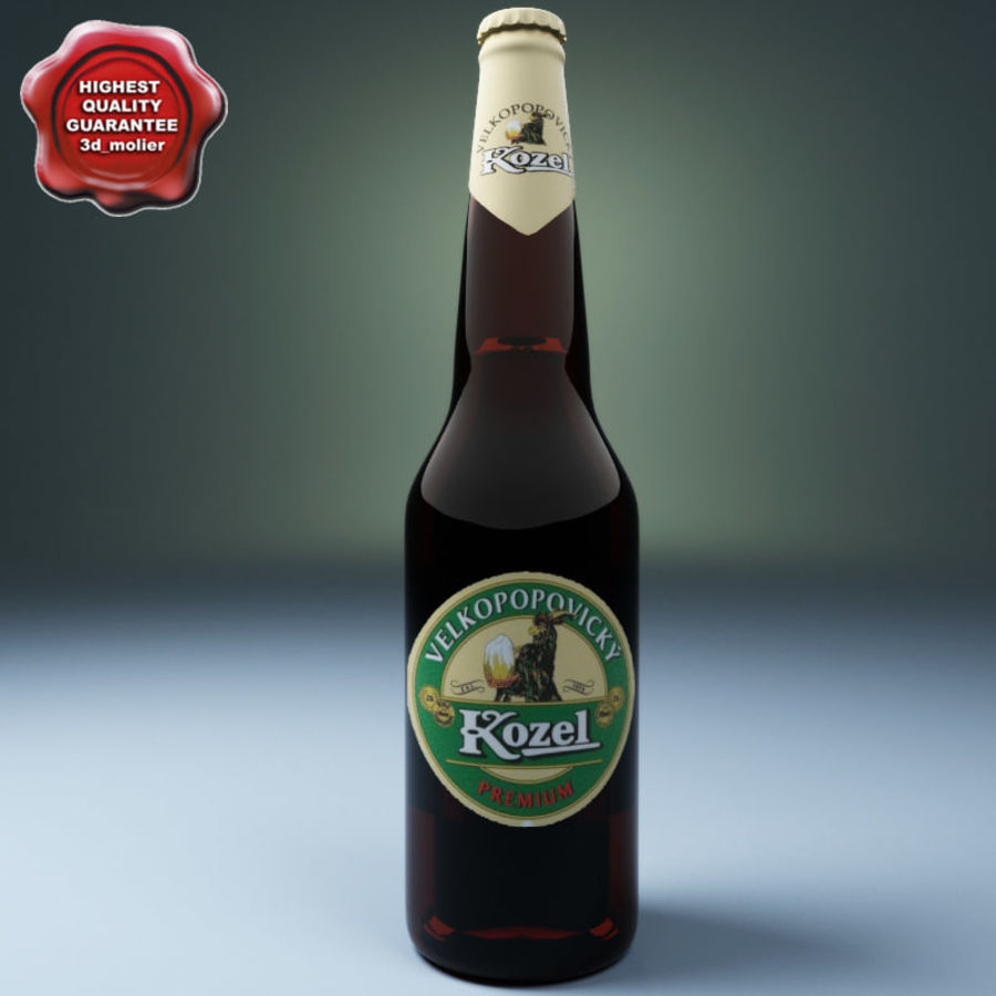 Beer botle kozel royalty-free 3d model - Preview no. 1