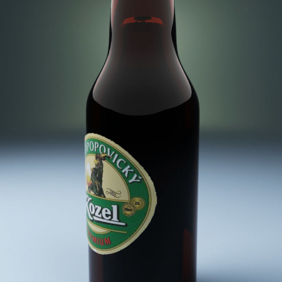 Beer botle kozel royalty-free 3d model - Preview no. 3