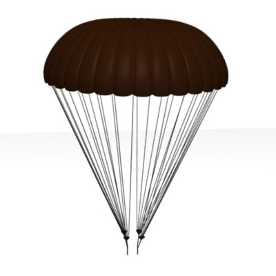 parachute2 royalty-free 3d model - Preview no. 2